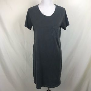 J. Crew garment dyed t-shirt pocket dress in gray
